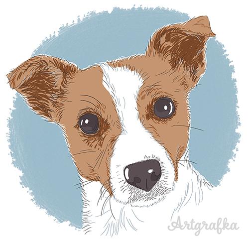 ilustracja pies